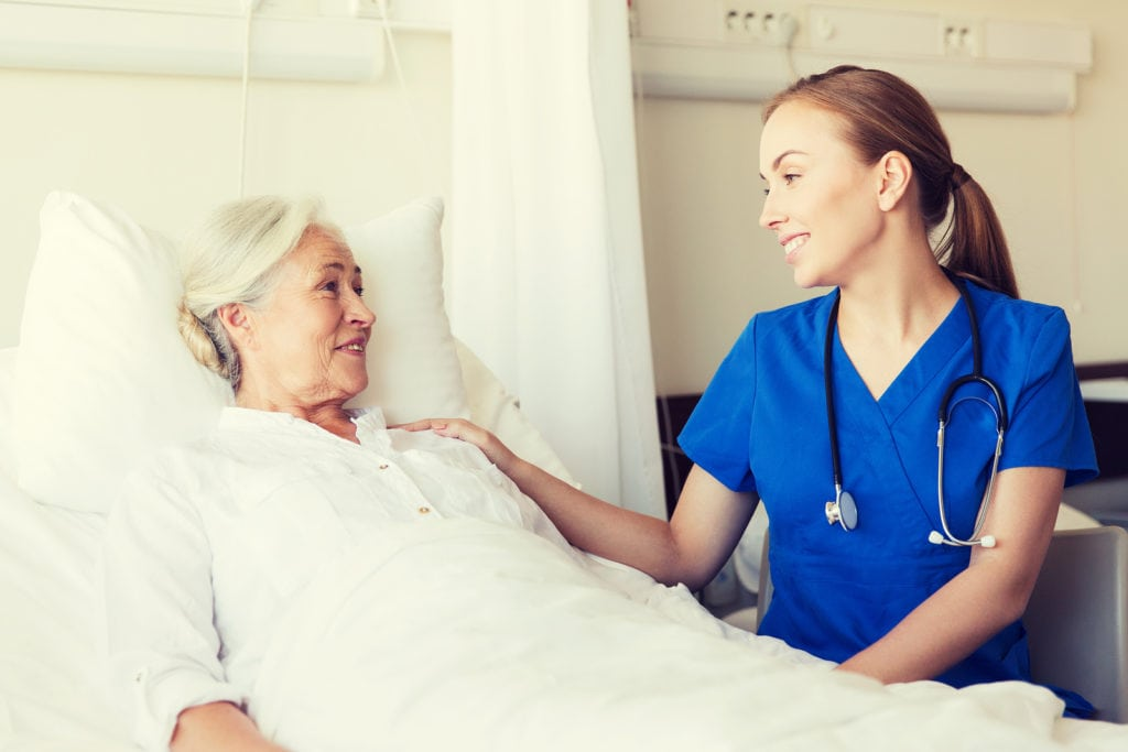 A skilled nurse and client in Glenolden, PA
